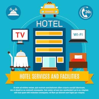 Serviceleistungen und einrichtungen des hotels