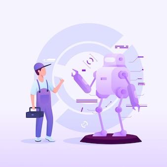 Serviceroboter-mechaniker