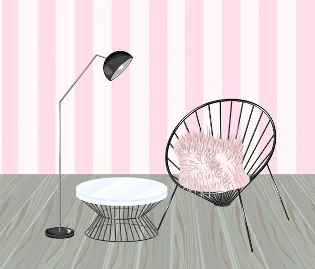 Sessel und tisch