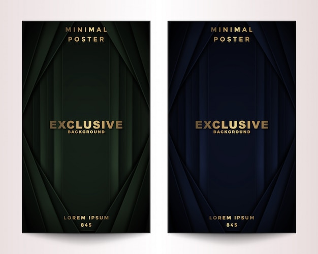 Set abdeckung polygonal dark & golden