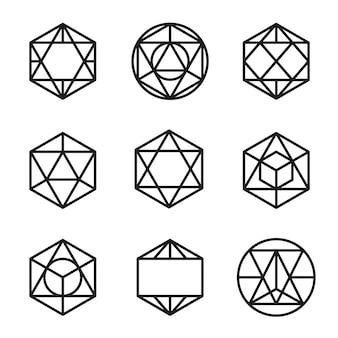 Set abstrakte geometrische formen vektor