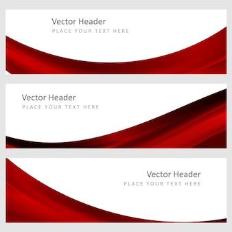 Set abstrakten vektor hintergrund