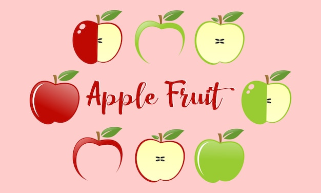 Set äpfel obst logo