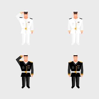 Set amerikanischer militäroffizier