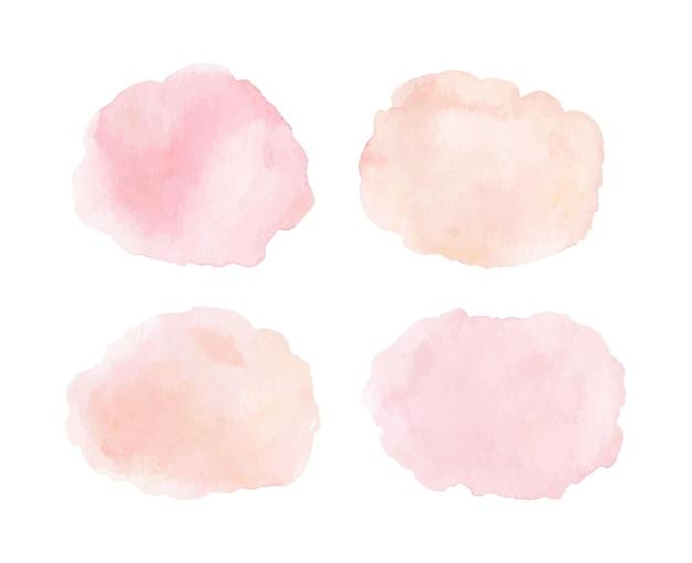 Set aquarellflecken in pastellfarben Premium Vektoren