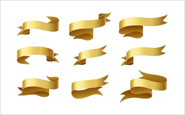 Set aus goldband