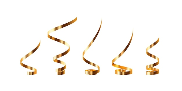 Set aus goldenem serpentin