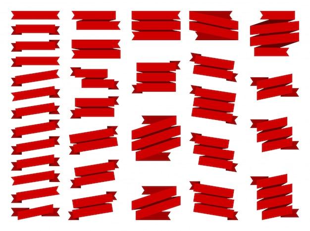 Set aus rotem band
