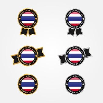 Set aus thailand-etikett