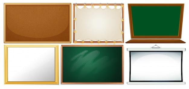 Set aus verschiedenen boards