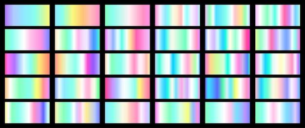 Set aus verschiedenen bunten farbverläufen