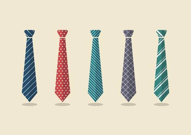 Set aus verschiedenen krawatten