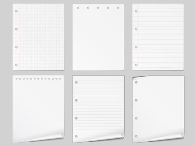 Set aus verschiedenen papieren,