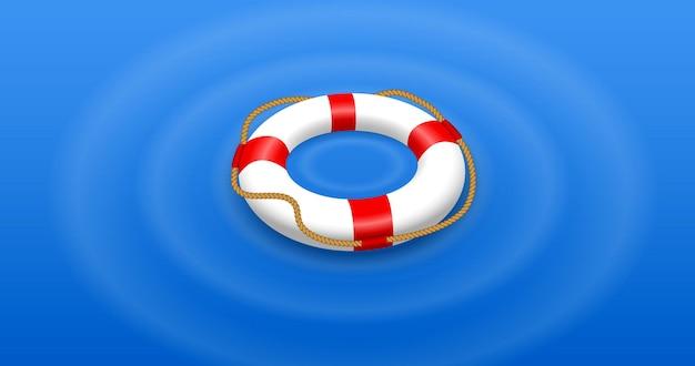 Set aus verschiedenen rettungsringen, isoliert oder rettungsschwimmer-rettungsausrüstung