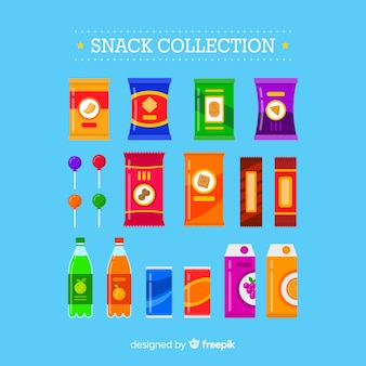 Set aus verschiedenen snacks