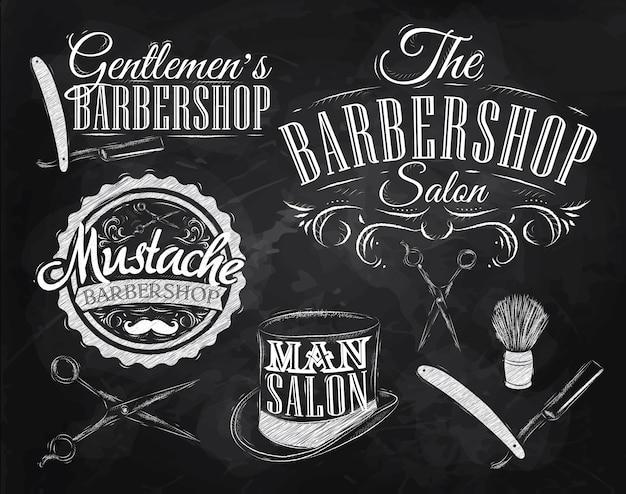 Set barbershop kreide