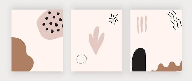 Set boho handzeichnungsformen wandkunstdrucke