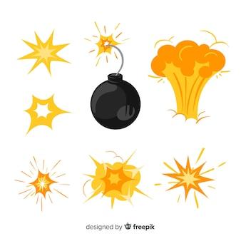 Set bombenexplosionseffekte
