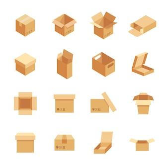 Set box im modernen flachen stil.