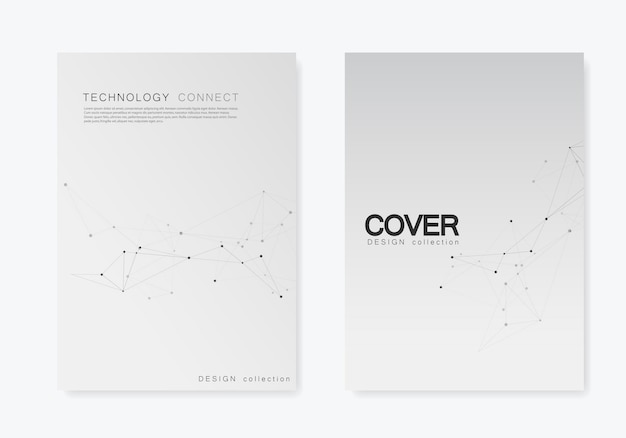 Set broschüren deckt vorlage mit verbinden