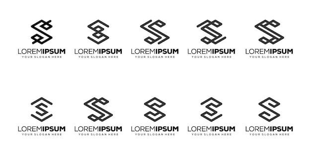 Set bundle letter s logo-design
