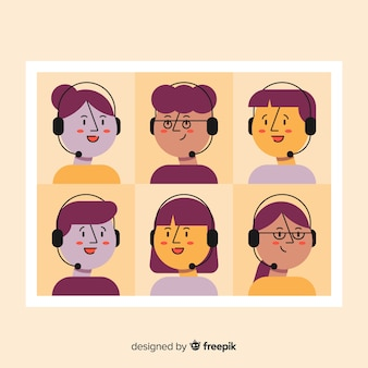 Set call-center-avatare