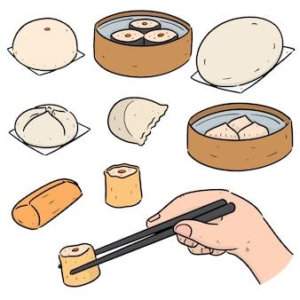 Set chinesischer snacks