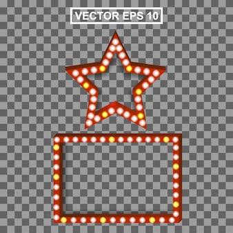 Set cinema realistische beleuchtungskarte