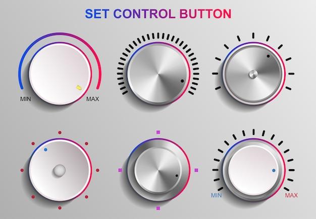 Set control button broadcast-aufnahme, entertainment professional design-konzept, mixing control musik dj, illustration sound audio, studio control equipment record
