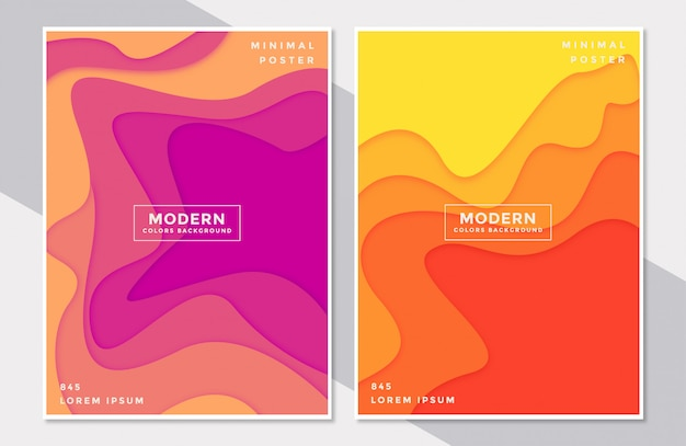 Set cover vorlagen abstrakt bunt