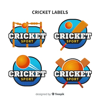 Set cricket-etiketten