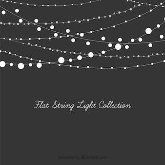 Set dekorative leuchten string