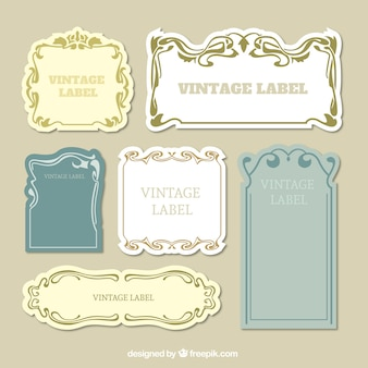 Set dekorative vintage etiketten