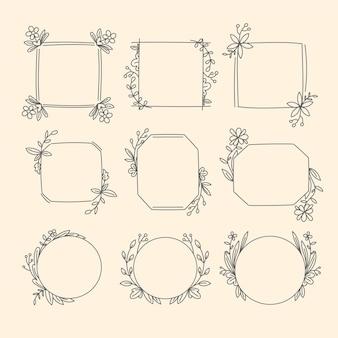 Set dekorativer zierrahmen
