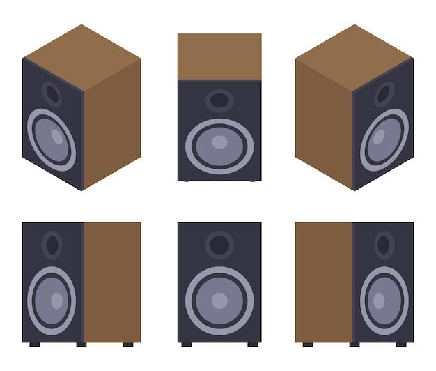 Set der audio-lautsprecher