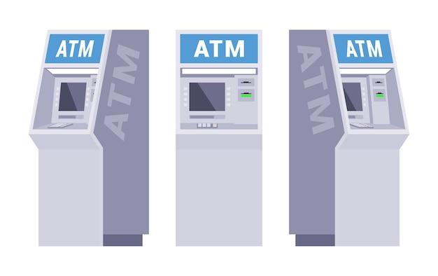 Set der geldautomaten