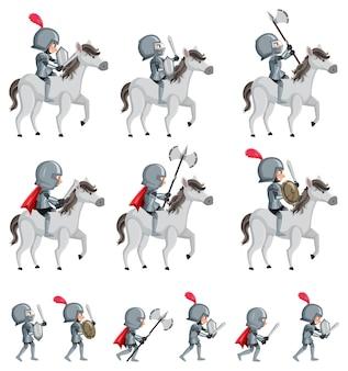 Set der mittelalterlichen armee