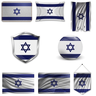 Set der nationalflagge von israel