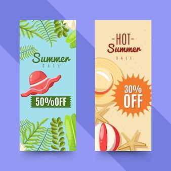 Set der sommerschlussverkauffahne set