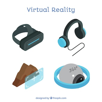 Set der virtuellen realität elemente