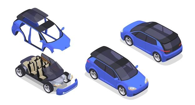 Set des herstellungsprozesses des autos