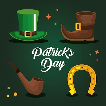Set designs von saint patrick day vektor-illustration