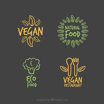 Set eco und bio-etiketten