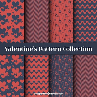 Set elegante abstrakt valentin muster