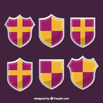 Set escudos heraldische
