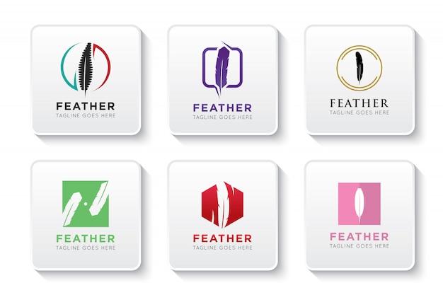 Set feder-logo und symbol