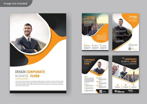 Set flyer template design