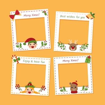 Set fotorahmen für weihnachten