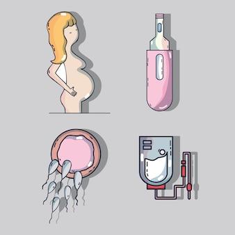 Set frau schwangerschaft