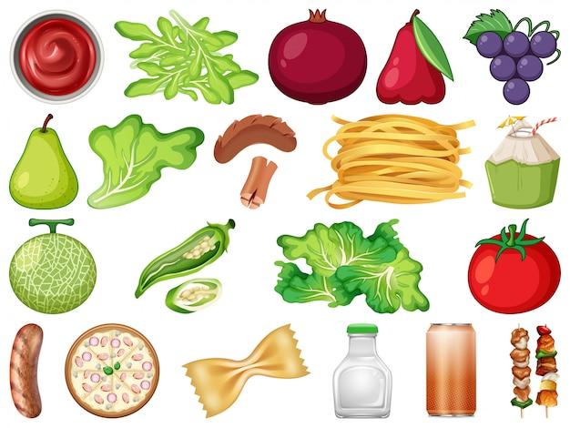 Set frisches gemüse